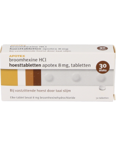 Broomhexine hcl hoesttabletten 8mg Apotex, 30st