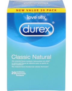 Durex condoom classic naturel, 20st